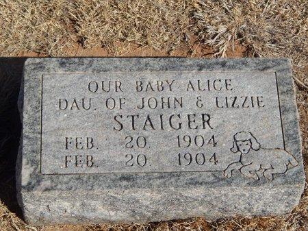STAIGER, ALICE - Alfalfa County, Oklahoma | ALICE STAIGER - Oklahoma Gravestone Photos