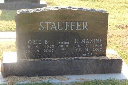 STAUFFER, ORIE B - Alfalfa County, Oklahoma   ORIE B STAUFFER - Oklahoma Gravestone Photos