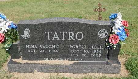 TATRO, ROBERT LESLIE - Alfalfa County, Oklahoma | ROBERT LESLIE TATRO - Oklahoma Gravestone Photos