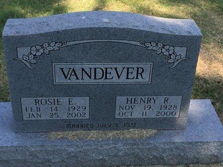 VANDEVER, HENRY R - Alfalfa County, Oklahoma | HENRY R VANDEVER - Oklahoma Gravestone Photos