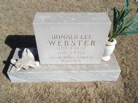 WEBSTER, DONALD LEE - Alfalfa County, Oklahoma | DONALD LEE WEBSTER - Oklahoma Gravestone Photos