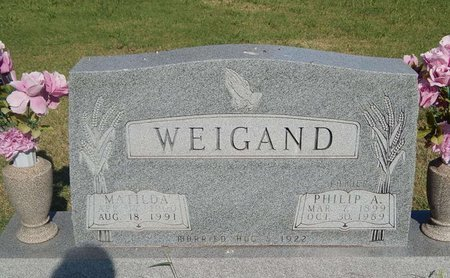 WEIGAND, PHILIP A - Alfalfa County, Oklahoma | PHILIP A WEIGAND - Oklahoma Gravestone Photos