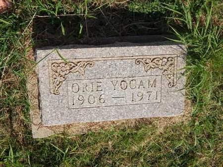 YOCAM, ORIE - Alfalfa County, Oklahoma   ORIE YOCAM - Oklahoma Gravestone Photos