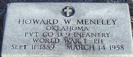 MENELEY (VETERAN WWI), HOWARD W. - Atoka County, Oklahoma | HOWARD W. MENELEY (VETERAN WWI) - Oklahoma Gravestone Photos