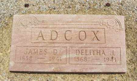 ADCOX, JAMES D - Beckham County, Oklahoma   JAMES D ADCOX - Oklahoma Gravestone Photos
