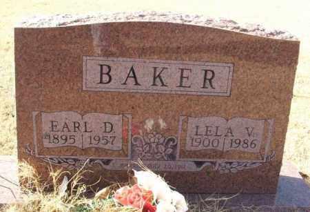 BAKER, EARL D - Beckham County, Oklahoma | EARL D BAKER - Oklahoma Gravestone Photos