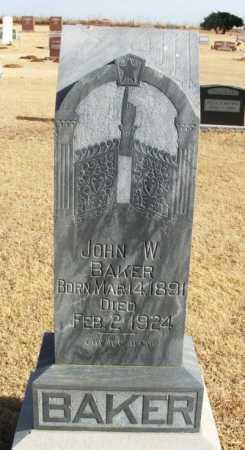 BAKER, JOHN W - Beckham County, Oklahoma   JOHN W BAKER - Oklahoma Gravestone Photos