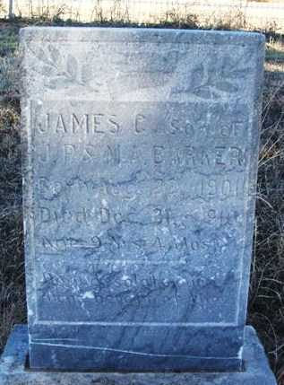 BARKER, JAMES C - Beckham County, Oklahoma | JAMES C BARKER - Oklahoma Gravestone Photos
