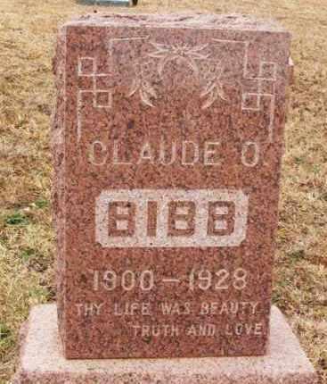BIBB, CLAUDE O - Beckham County, Oklahoma   CLAUDE O BIBB - Oklahoma Gravestone Photos