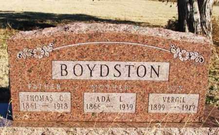 BOYDSTON, THOMAS CALVIN - Beckham County, Oklahoma | THOMAS CALVIN BOYDSTON - Oklahoma Gravestone Photos