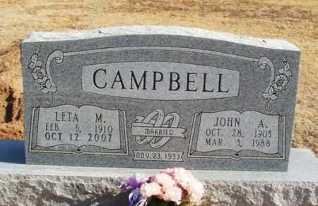 CAMPBELL, JOHN A - Beckham County, Oklahoma | JOHN A CAMPBELL - Oklahoma Gravestone Photos
