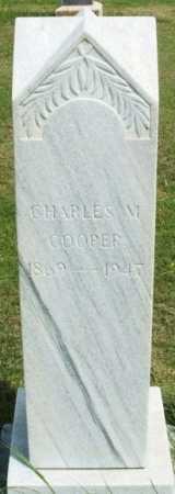 COOPER, CHARLES M - Beckham County, Oklahoma | CHARLES M COOPER - Oklahoma Gravestone Photos