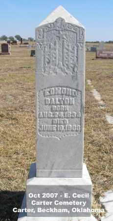 DALTON, EDMOND - Beckham County, Oklahoma | EDMOND DALTON - Oklahoma Gravestone Photos