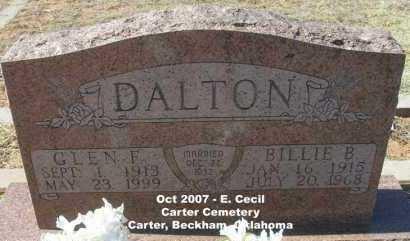 DALTON, BILLIE B. - Beckham County, Oklahoma   BILLIE B. DALTON - Oklahoma Gravestone Photos