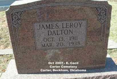 DALTON, JAMES LEROY - Beckham County, Oklahoma   JAMES LEROY DALTON - Oklahoma Gravestone Photos