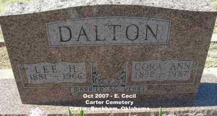 ROGERS DALTON, CORA ANN - Beckham County, Oklahoma | CORA ANN ROGERS DALTON - Oklahoma Gravestone Photos