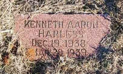 HARLESS, KENNETH AARON - Beckham County, Oklahoma | KENNETH AARON HARLESS - Oklahoma Gravestone Photos