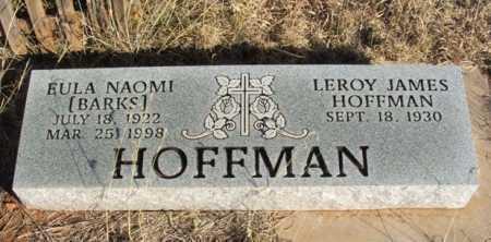 BARKS HOFFMAN, EULA NAOMI - Beckham County, Oklahoma | EULA NAOMI BARKS HOFFMAN - Oklahoma Gravestone Photos