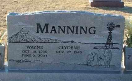 MANNING, CLYDENE - Beckham County, Oklahoma | CLYDENE MANNING - Oklahoma Gravestone Photos