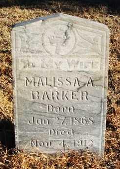 BARKER, MALISSA A - Beckham County, Oklahoma | MALISSA A BARKER - Oklahoma Gravestone Photos