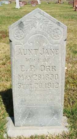 "ORR, JANE ""AUNT JANE"" - Beckham County, Oklahoma | JANE ""AUNT JANE"" ORR - Oklahoma Gravestone Photos"