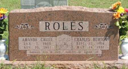 ROLES, AMANDA CALLIE - Beckham County, Oklahoma | AMANDA CALLIE ROLES - Oklahoma Gravestone Photos