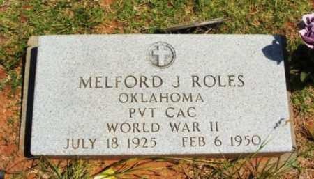 ROLES  (VETERAN WWII), MELFORD J - Beckham County, Oklahoma | MELFORD J ROLES  (VETERAN WWII) - Oklahoma Gravestone Photos