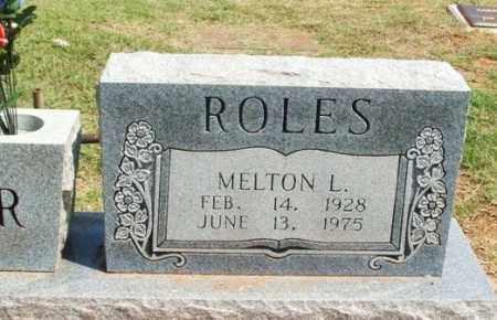 ROLES, MELTON L - Beckham County, Oklahoma   MELTON L ROLES - Oklahoma Gravestone Photos