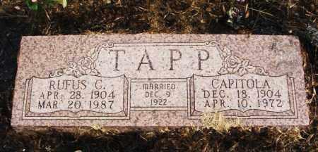 TAPP, RUFUS C - Beckham County, Oklahoma   RUFUS C TAPP - Oklahoma Gravestone Photos