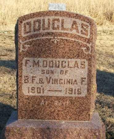 DOUGLAS, F M - Beckham County, Oklahoma | F M DOUGLAS - Oklahoma Gravestone Photos