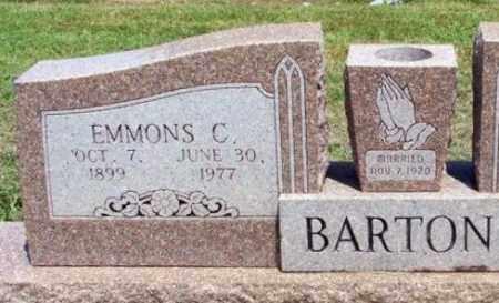BARTON, WILLIAM EMMONS COLVIN - Bryan County, Oklahoma | WILLIAM EMMONS COLVIN BARTON - Oklahoma Gravestone Photos