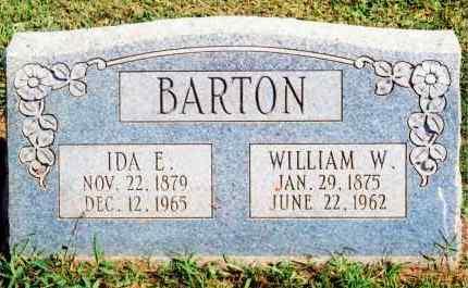 BARTON, IDA ELIZABETH - Bryan County, Oklahoma | IDA ELIZABETH BARTON - Oklahoma Gravestone Photos