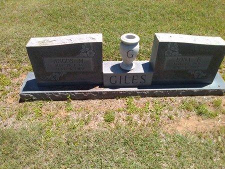 GILES, ANGUS M. - Bryan County, Oklahoma | ANGUS M. GILES - Oklahoma Gravestone Photos