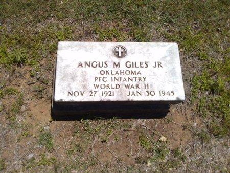 GILES JR., ANGUS M. - Bryan County, Oklahoma | ANGUS M. GILES JR. - Oklahoma Gravestone Photos