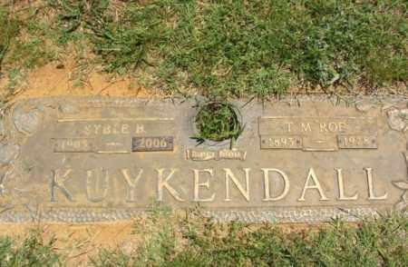 "KUYKENDALL, THOMAS MONROE ""ROE"" - Bryan County, Oklahoma   THOMAS MONROE ""ROE"" KUYKENDALL - Oklahoma Gravestone Photos"