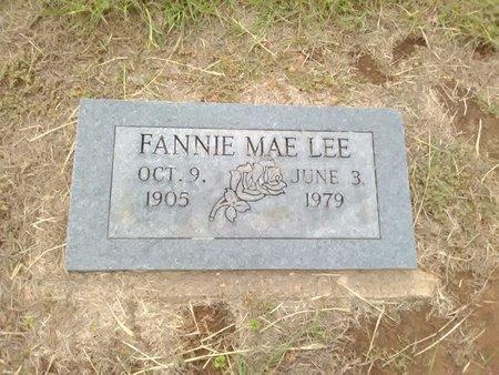 LEE, FANNIE MAE - Bryan County, Oklahoma | FANNIE MAE LEE - Oklahoma Gravestone Photos