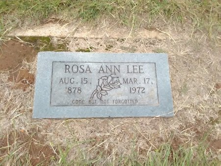 FISHER LEE, ROSA ANN - Bryan County, Oklahoma | ROSA ANN FISHER LEE - Oklahoma Gravestone Photos