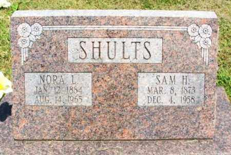 BRIGGS SHULTS, NORA LILLIE - Bryan County, Oklahoma   NORA LILLIE BRIGGS SHULTS - Oklahoma Gravestone Photos