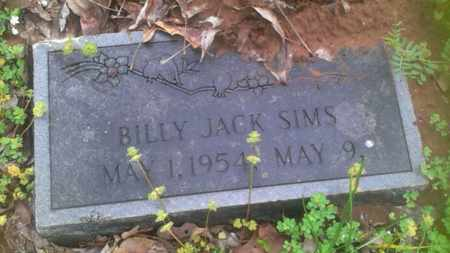 SIMS, BILLY JACK - Bryan County, Oklahoma | BILLY JACK SIMS - Oklahoma Gravestone Photos