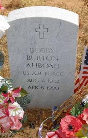 AHBOAH (VETERAN), BOBBY BURTON - Caddo County, Oklahoma | BOBBY BURTON AHBOAH (VETERAN) - Oklahoma Gravestone Photos