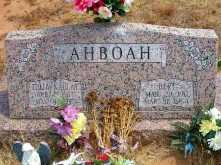 KAULAY AHBOAH, JULIA - Caddo County, Oklahoma | JULIA KAULAY AHBOAH - Oklahoma Gravestone Photos