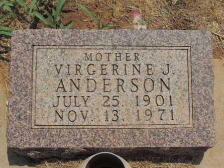ANDERSON, VIRGERINE J - Caddo County, Oklahoma   VIRGERINE J ANDERSON - Oklahoma Gravestone Photos