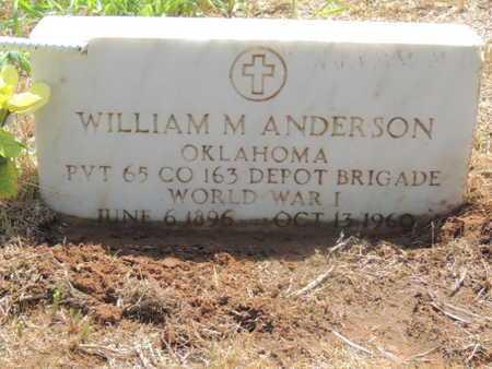 ANDERSON (VETERAN WWI), WILLIAM M - Caddo County, Oklahoma   WILLIAM M ANDERSON (VETERAN WWI) - Oklahoma Gravestone Photos