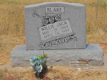BLAKE, WILIE JACK - Caddo County, Oklahoma | WILIE JACK BLAKE - Oklahoma Gravestone Photos
