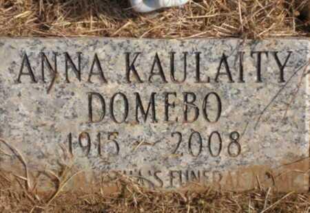 "DOMEBO, ANNA ""A-GEE"" - Caddo County, Oklahoma | ANNA ""A-GEE"" DOMEBO - Oklahoma Gravestone Photos"
