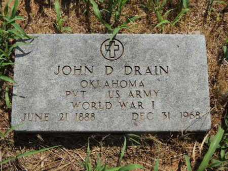 DRAIN (VETERAN WWI), JOHN D - Caddo County, Oklahoma | JOHN D DRAIN (VETERAN WWI) - Oklahoma Gravestone Photos