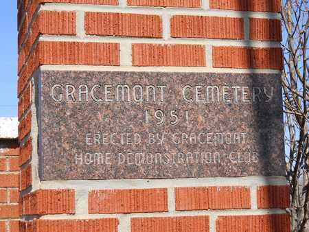 *GATE SIGN,  - Caddo County, Oklahoma    *GATE SIGN - Oklahoma Gravestone Photos