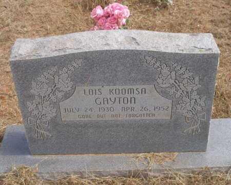 KOOMSA GAYTON, LOIS - Caddo County, Oklahoma | LOIS KOOMSA GAYTON - Oklahoma Gravestone Photos