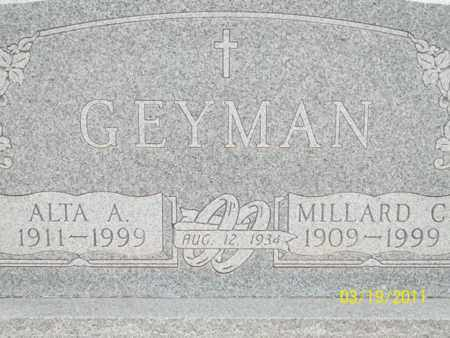 GEYMAN, ALTA - Caddo County, Oklahoma | ALTA GEYMAN - Oklahoma Gravestone Photos