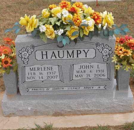 HAUMPY (VETERAN), JOHNNY LEE - Caddo County, Oklahoma   JOHNNY LEE HAUMPY (VETERAN) - Oklahoma Gravestone Photos